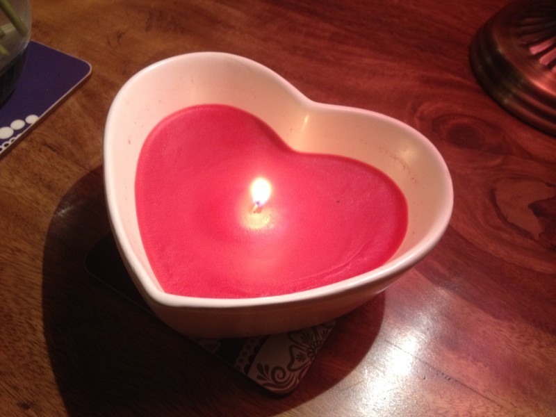 Heart Candle Cover