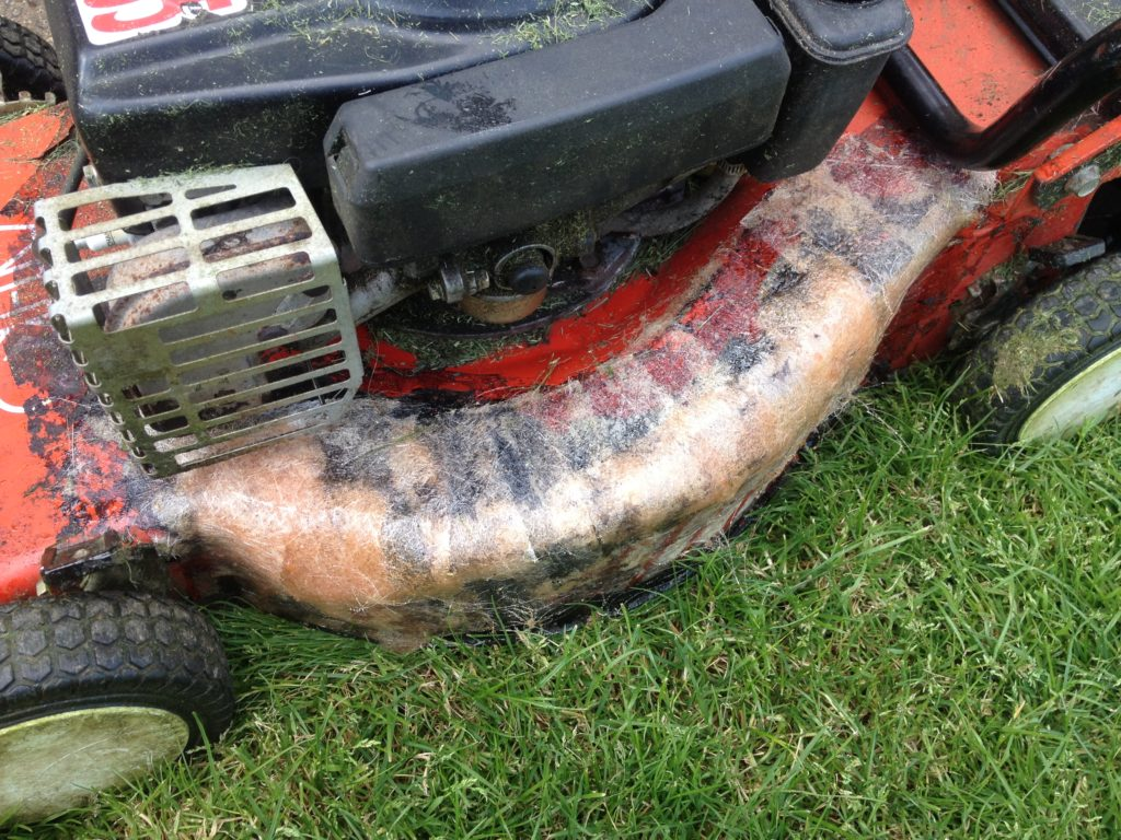 Glass Fibre Lawn Mower Repair