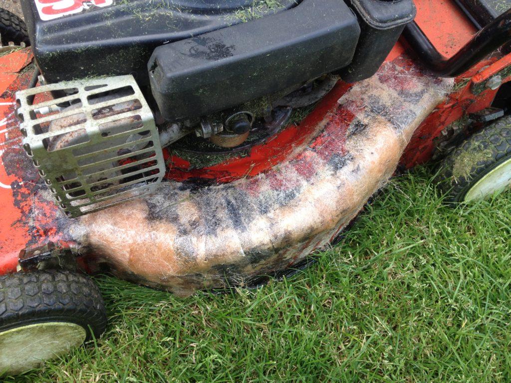 Glass Fibre Lawn Mower Repair