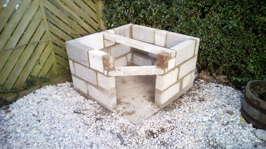 pizza oven brick laying