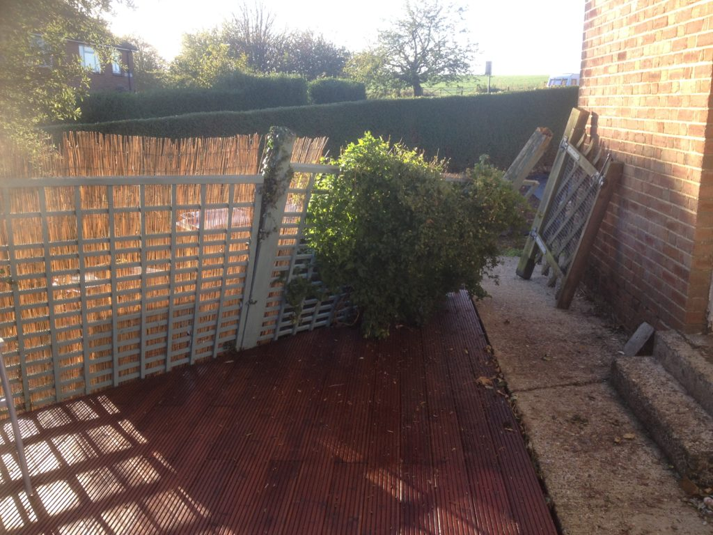 Fence Falling Over