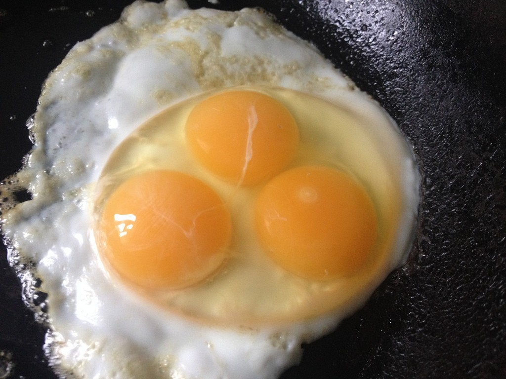Triple Yolked Eggs