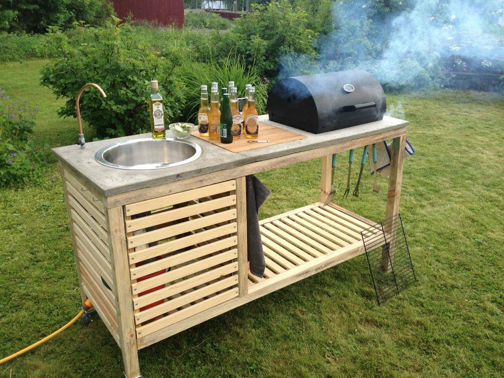 Outdoor BBQ garden kitchen worktop